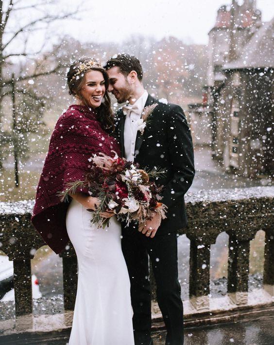 15 фото, которые доказывают, что свадьба зимой — это круто