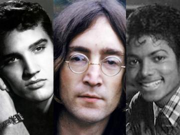 Элвис Пресли, Джон Леннон, Майкл Джексон