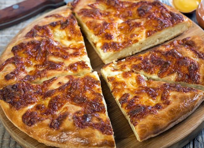 Хычины с сыром, тесто, сыр