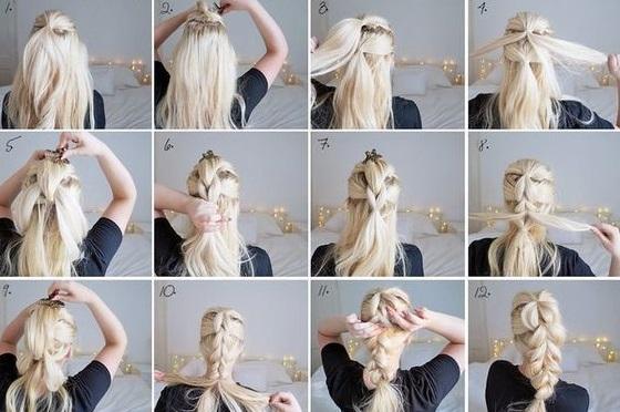 Быстрые прически для длинных волос
