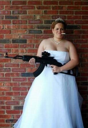 Прикольное свадебное фото
