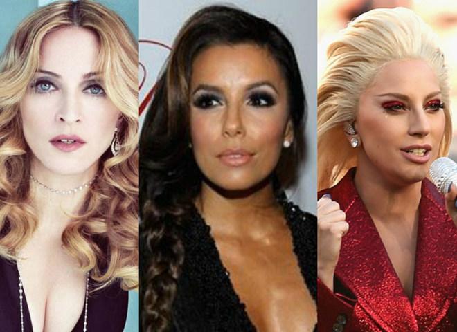 Мадонна, Ева Лонгория, Леди Гага