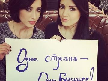 Ангеліна Завальська з сестрою