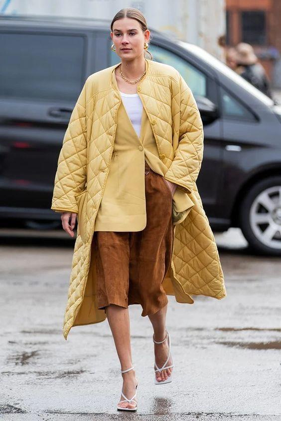 Стьобане пальто — тренд весни 2021