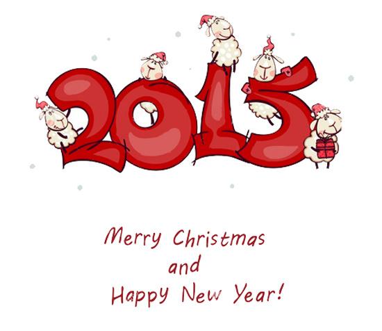 Прикольная открытка на Новый год козы