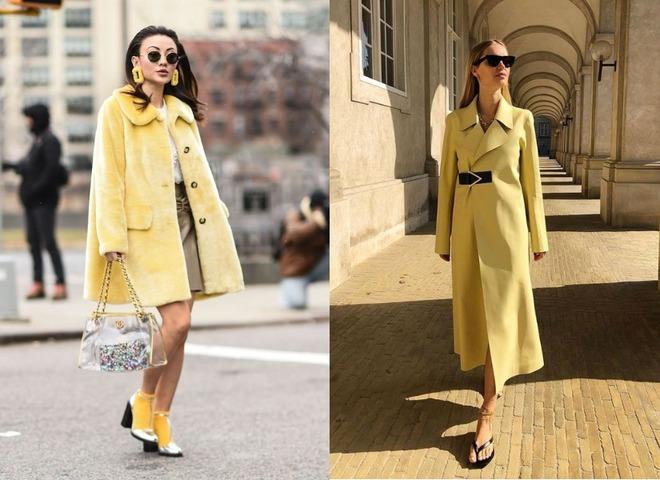 Желтый — модный цвет на осень 2020