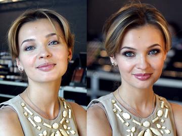 Дневной макияж легко можно превратить в вчерений