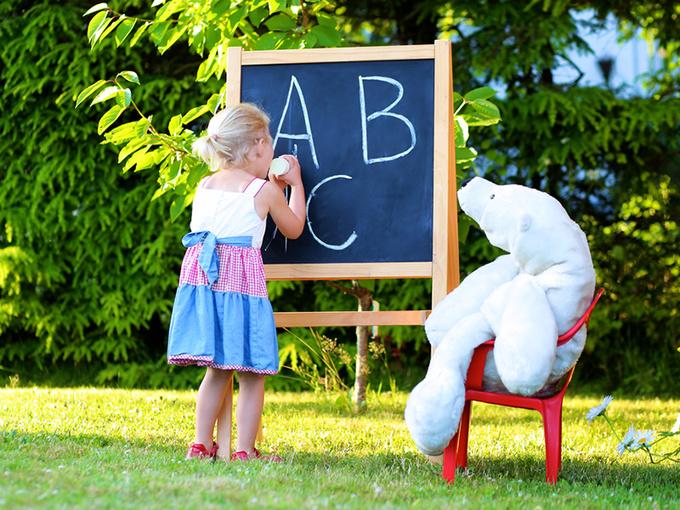 День учителя, ребенок, плючевый мишка