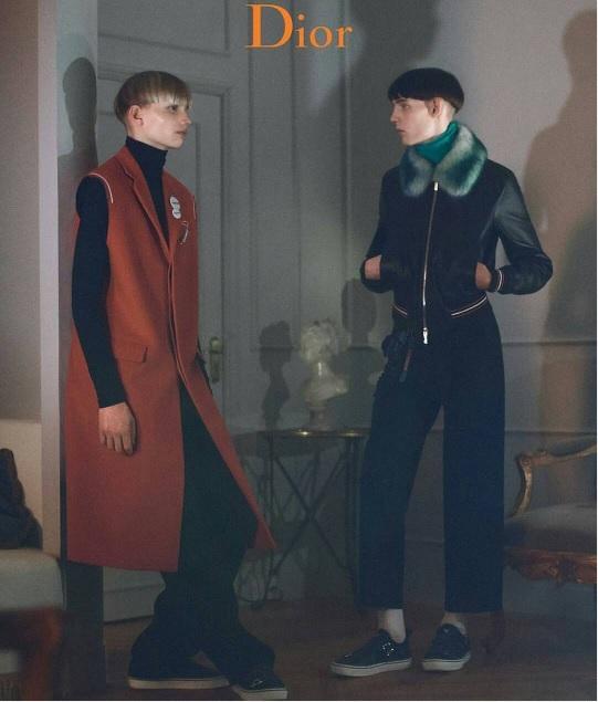 Дэйв Гаан в рекламной кампании Dior Homme