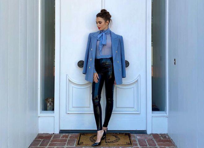 Як і з чим носити вінілові легінси весною 2021
