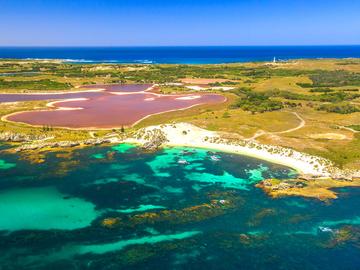 Самые красивые места в мире: розовое озеро Хиллер в Австралии