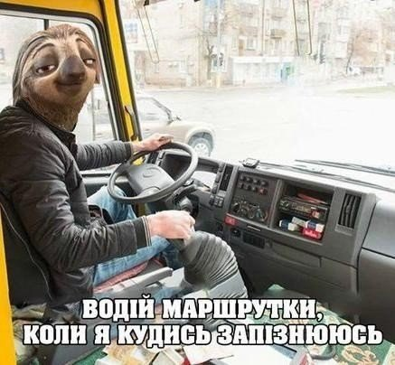 Прикол про водителя маршрутки