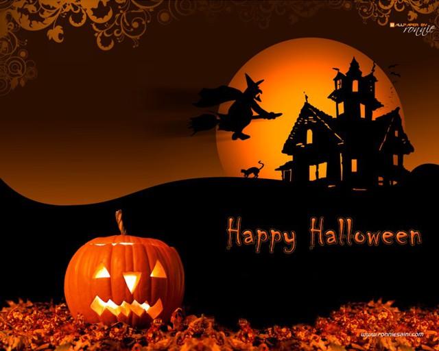 Прикольная открытка с Хэллоуином