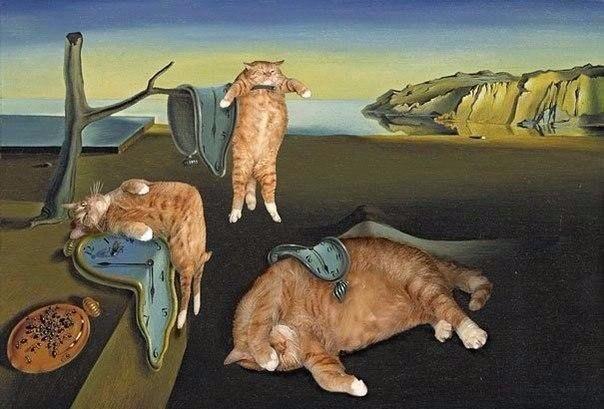 Классическая живопись с котиками