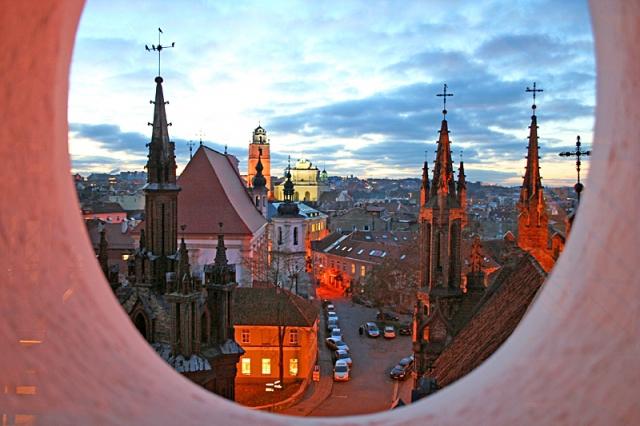 Достопримечательности Вильнюса: вечерние панорамы