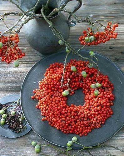 Осенний декор из рябины
