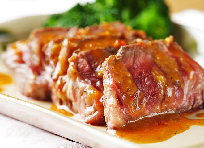 Соус для шашлыка, мясо