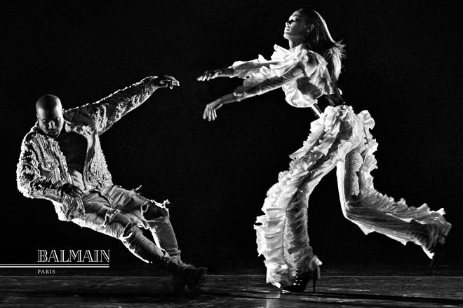 Каньє Вест знявся з Джоан Смоллс для Balmain