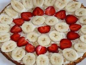 Клубнично-банановый пирог