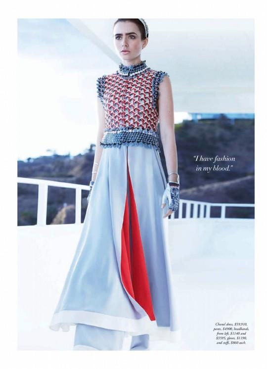 Лілі Коллінз для Harper's Bazaar Australia