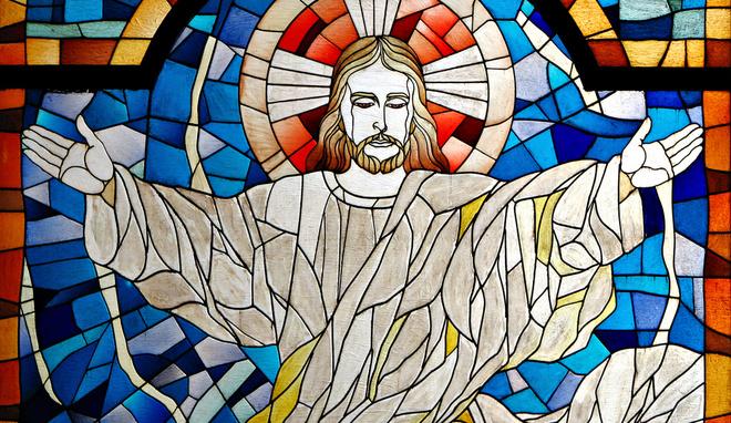 Витражи Иисус Христос