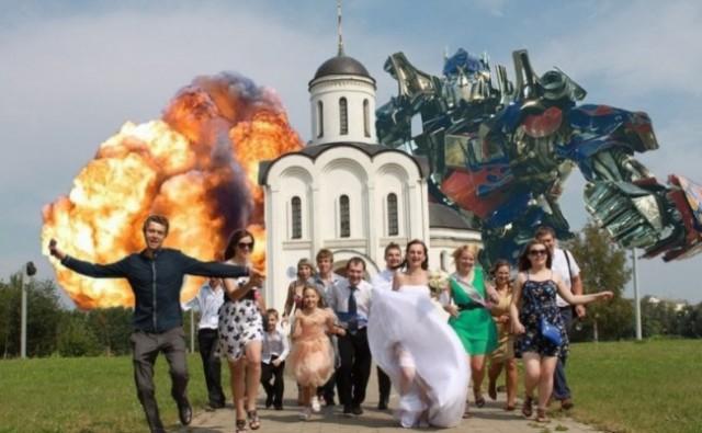 Гениальные снимки со свадеб