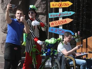День смеха 2017 в Киеве: маскарадный велопарад на Крещатике