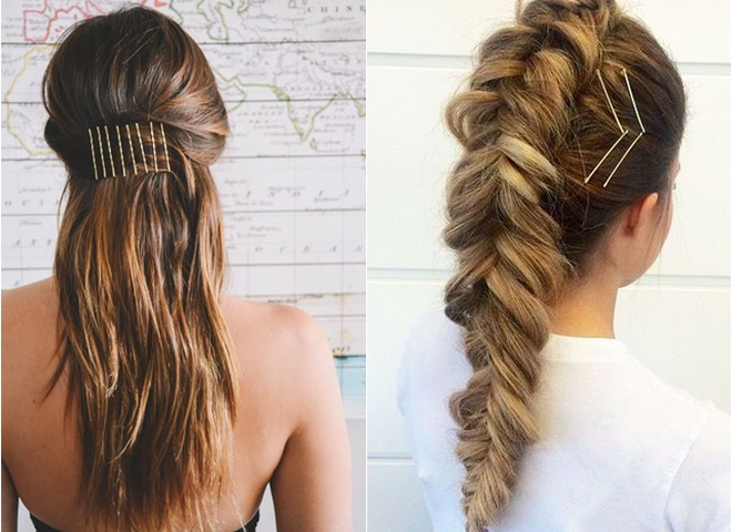 Зачіски з шпильками-невидимками