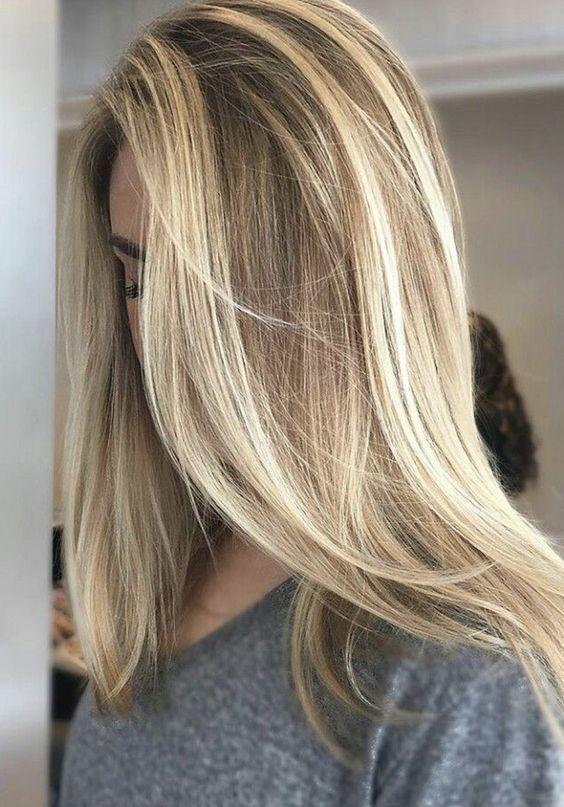 Балаяж на блондинисте волосся