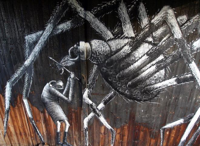Street art: впечатляющая работа британца Phlegm в Южном Йоркшире