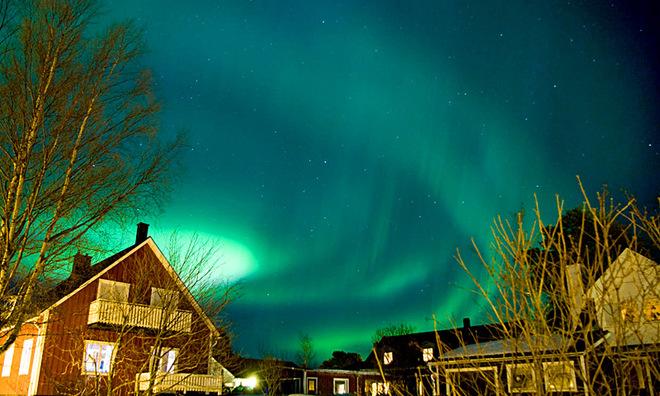 північне сяйво у Швеції