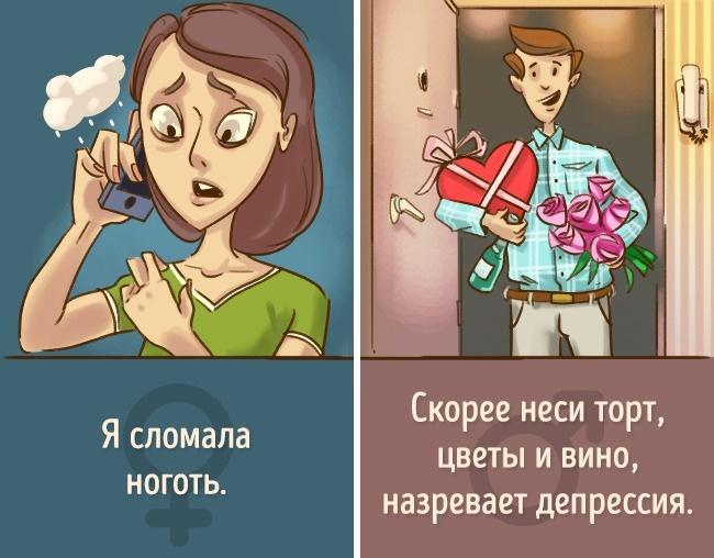 Что слышат мужчины. Комиксы про пар