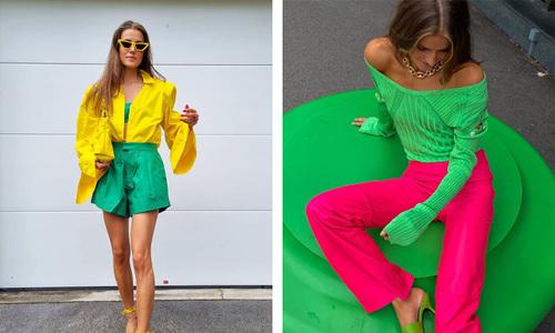 Одежда в ярком зеленом цвете — тренд 2021