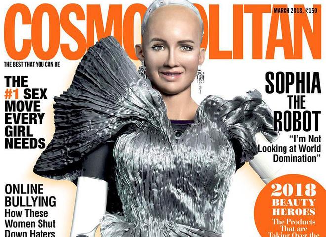 Робот Софія на обкладинці журналу