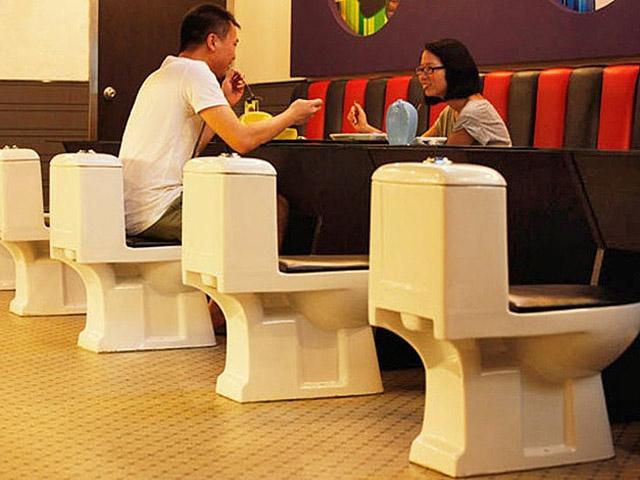Гурман-тур: незвичайні ресторани: Сучасний туалет, Китай