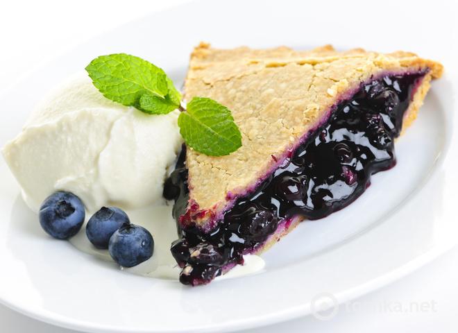 Чорничний пиріг рецепт