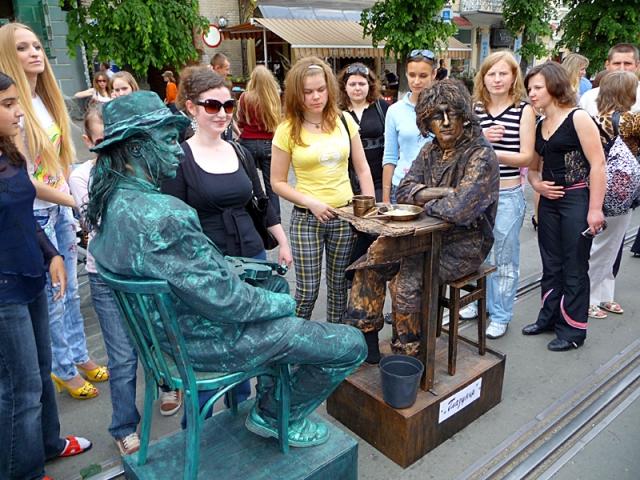 Живые скульптуры: Украина