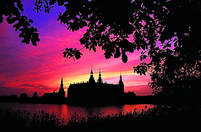 Захід сонця: Hillerod, Данія