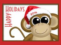 Счастливого Нового года обезьяны 2016