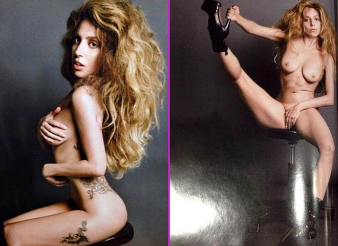 Голая Lady Gaga расставила ноги