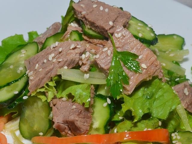 Салат с мясом говядины рецепт с фото