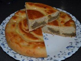 Пирог-улитка с печенью в мультиварке