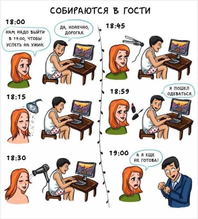 Отличие мужчин от женщин