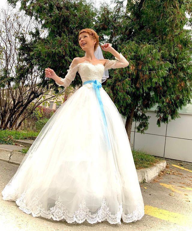 Елена-Кристина Лебедь в свадебном платье