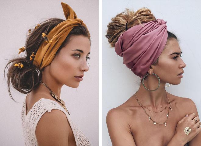 Як красиво зав'язати хустку на голові: модні ідеї для повсякденності