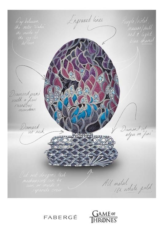 Fabergé яйцо Игра Престолов