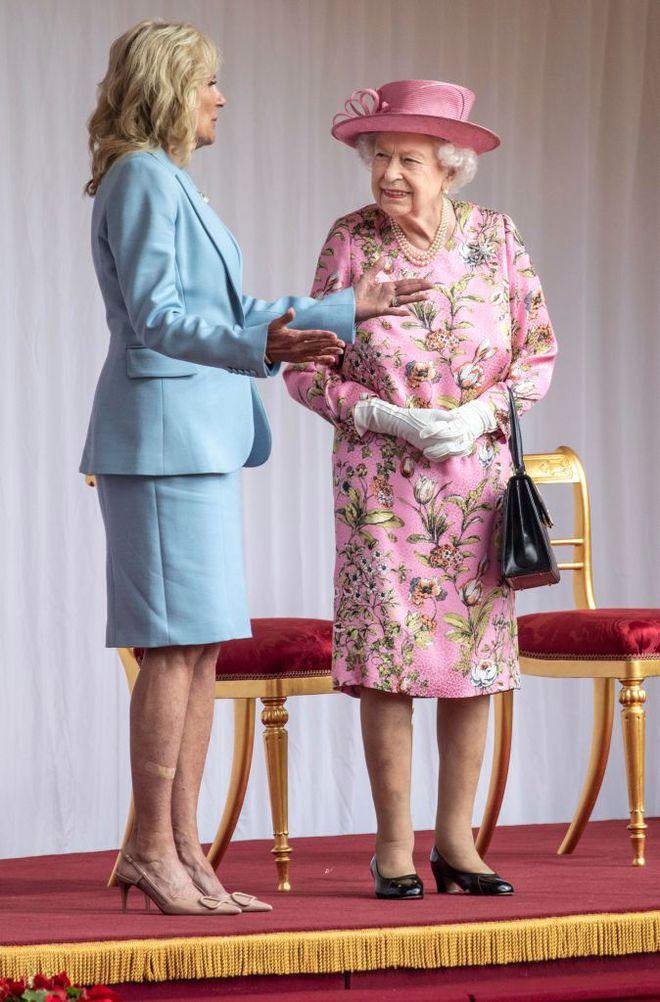 Єлизавета ІІ та Джилл Байден