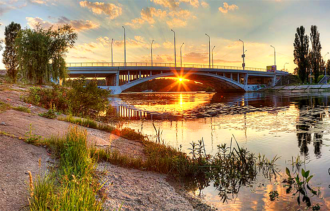 Мосты Украины: Киев, Русановский мост