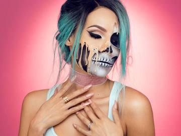 Плавленная кожа: оригинальный макияж на Хэллоуин (видео)