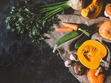 Осінні овочі и фрукти